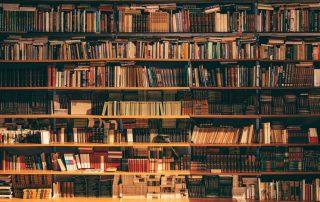 library: books rack