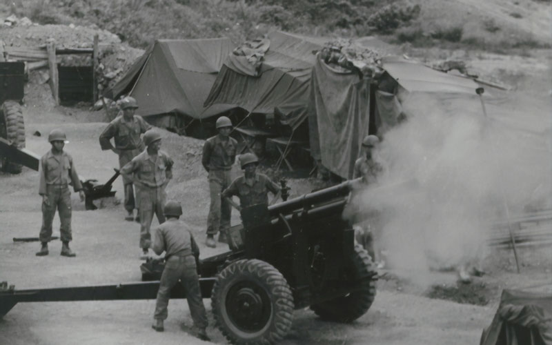 A weapon being used in War.