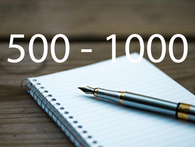 500 - 1000 words