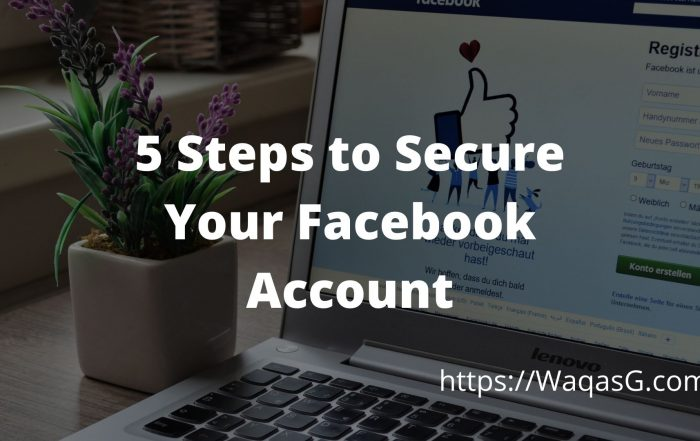5 Steps to Secure Facebook Account